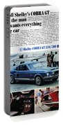 1968 Shelby Cobra Gt 350/500 Ford Mustang Portable Battery Charger