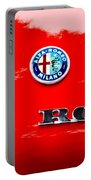 1969 Alfa Romeo Spider Veloce Iniezione Emblem Portable Battery Charger