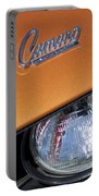 1969 Chevrolet Camaro Headlight Emblem Portable Battery Charger by Jill Reger