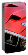 1969 Shelby Gt500 Convertible 428 Cobra Jet Hood - Grille Emblem Portable Battery Charger