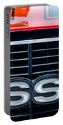 1970 Chevrolet Chevelle Ss 454 Grille Emblem Portable Battery Charger by Jill Reger