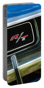 1970 Dodge Challenger Rt Convertible Grille Emblem Portable Battery Charger by Jill Reger