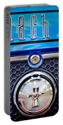 1970 Ford Mustang Gt Mach 1 Emblem Portable Battery Charger