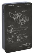 1972 Chris Craft Boat Patent Artwork - Gray Portable Battery Charger