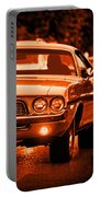 1972 Dodge Challenger In Orange Portable Battery Charger