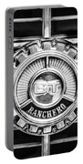 1973 Ford Ranchero Grille Emblem -0769bw Portable Battery Charger