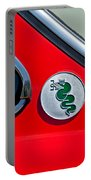 1974 Alfa Romeo Gtv Emblem  Portable Battery Charger