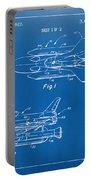 1975 Space Shuttle Patent - Blueprint Portable Battery Charger by Nikki Marie Smith