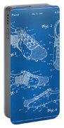 1980 Soccer Shoes Patent Artwork - Blueprint Portable Battery Charger