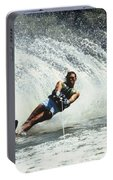 1980s Man Waterskiing Making Fan Portable Battery Charger