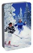 1990s Couple Skiing Vail Colorado Usa Portable Battery Charger