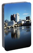 1990s Skyline Along The Scioto River Portable Battery Charger