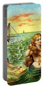 19th C. Mermaids At Ship Wreck Portable Battery Charger