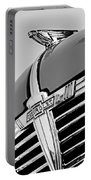 1938 Chevrolet Coupe Hood Ornament -0216bw Portable Battery Charger
