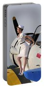 1940s Style Pin-up Girl Sitting Portable Battery Charger