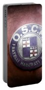 1954 O.s.c.a. Mt4 Maserati Emblem Portable Battery Charger
