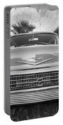 1958 Chevrolet Bel Air Impala Painted Bw  Portable Battery Charger
