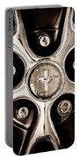 1966 Ford Mustang Gt Wheel Emblem Portable Battery Charger