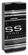1967 Chevrolet Camaro Ss Grille Emblem Portable Battery Charger
