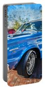 1967 Plymouth Belvedere Gtx 440 Painted  Portable Battery Charger