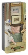 A Friendly Call Portable Battery Charger by William Merritt Chase