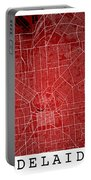 Adelaide Street Map - Adelaide Australia Road Map Art On Colored Portable Battery Charger