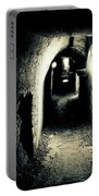 Altered Image Of A Tunnel In The Catacombs Of Paris France Portable Battery Charger