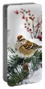 Christmas Sparrow Portable Battery Charger