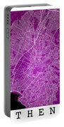 Athens Street Map - Athens Greece Road Map Art On Color Portable Battery Charger