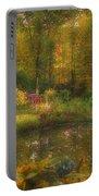 Autumn Gazebo Portable Battery Charger by Joann Vitali