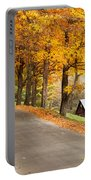 Autumn Road Portable Battery Charger by Brian Jannsen