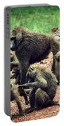 Baboons In African Bush Portable Battery Charger