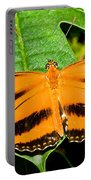Banded Orange Butterfly Portable Battery Charger