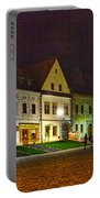 Bardejov At Night Portable Battery Charger