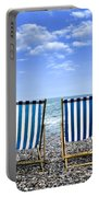 Beach Chairs Portable Battery Charger by Joana Kruse