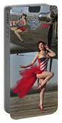 Beautiful 1940s Style Pin-up Girl Portable Battery Charger by Christian Kieffer