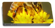 Bee On A Yellow Flower Portable Battery Charger