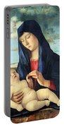 Bellini's Madonna And Child In A Landscape Portable Battery Charger