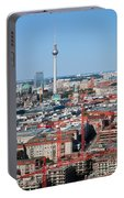 Berlin Cathedral And Tv Tower Portable Battery Charger