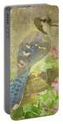 Blue Jay With Texture Portable Battery Charger