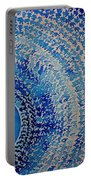 Blue Kachina Original Painting Portable Battery Charger by Sol Luckman
