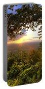 Blue Ridge Mountain Sunset Portable Battery Charger