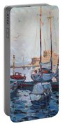 Boats In Rhodes Greece  Portable Battery Charger