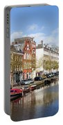 Boats On Amsterdam Canal Portable Battery Charger