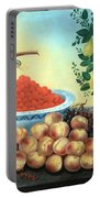 Bond's Still Life Of Bird And Dwarf Pear Tree Portable Battery Charger