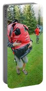 Boy Scouts Canoeing On The Bowron Lakes Portable Battery Charger