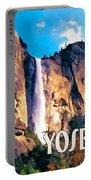 Bridal Veil Falls Yosemite National Park Portable Battery Charger