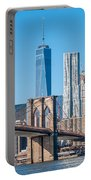 Brooklyn Bridge And New York City Manhattan Skyline Portable Battery Charger