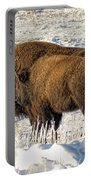 Buffalo In Winter Portable Battery Charger