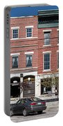Buildings Along A Street, Thomaston Portable Battery Charger